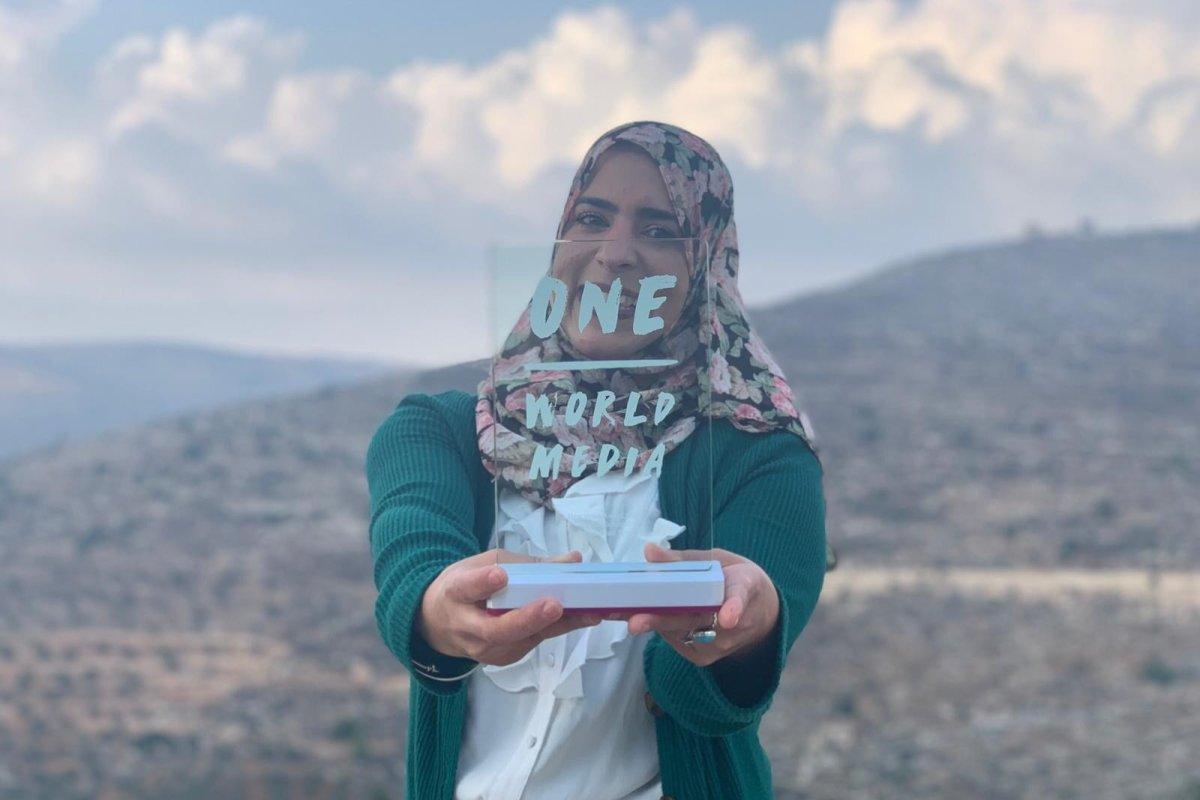 Palestinian journalist Shatha Hammad won the One World Media 'New Voice' prize [Shatha Hammad]