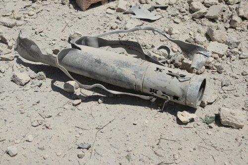 A remaining of a rocketon July 25, 2021 [Bekir Kasım/Anadolu Agency]