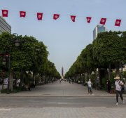 How has the establishment of the Constitutional Court in Tunisia been hindered since 2014?