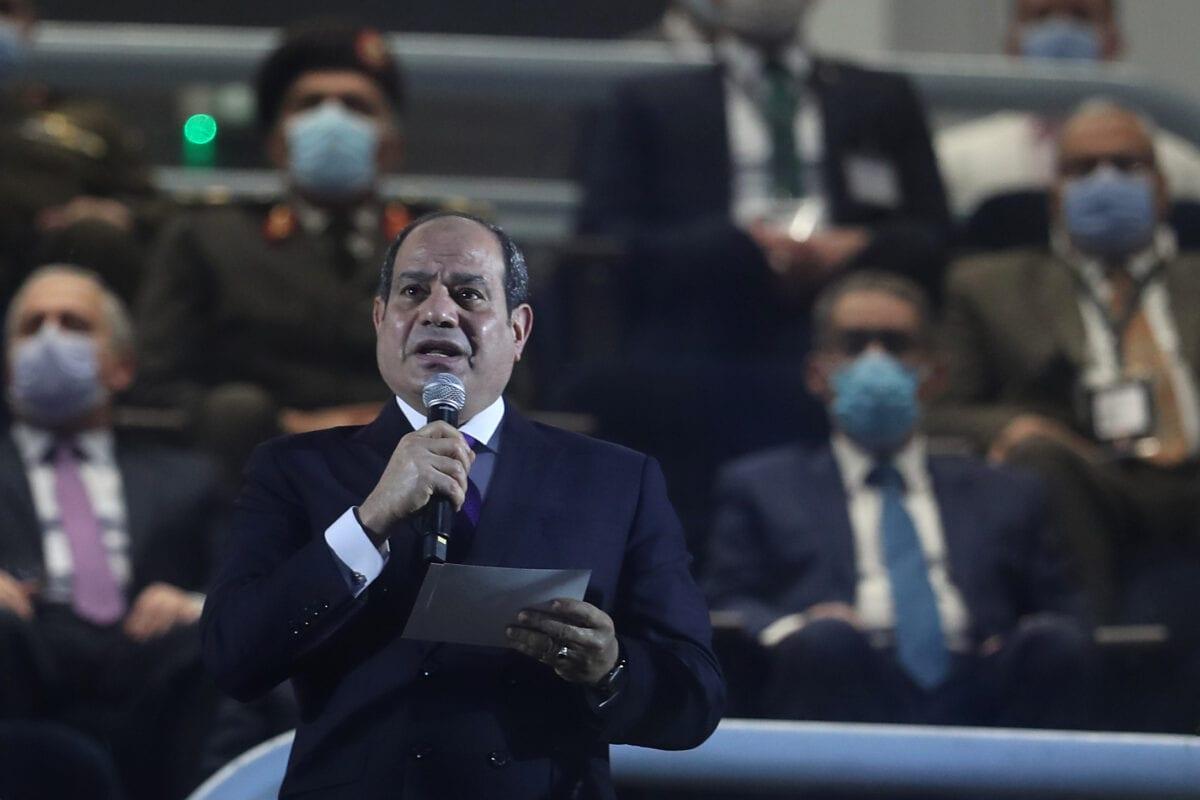 Egyptian president Abdel Fattah al-Sisi on January 13, 2021 [MOHAMED ABD EL GHANY/POOL/AFP via Getty Images]