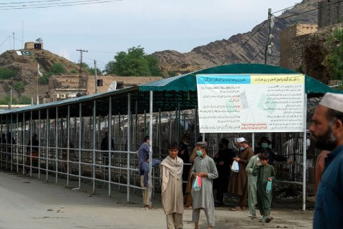 The Pakistan-Afghanistan land crossing border in Torkham on May 5, 2021 [ABDUL MAJEED/AFP via Getty Images]