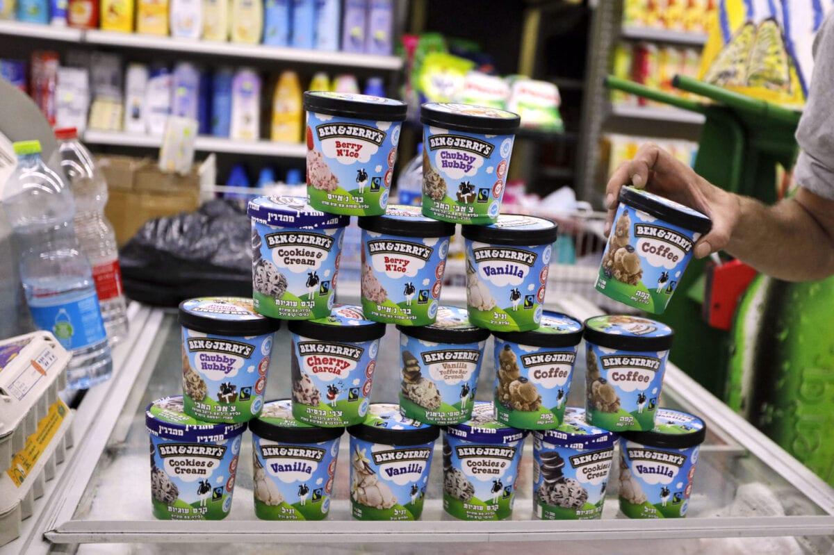 Ben&Jerry's ice cream in Jerusalem on July 20, 2021 [AHMAD GHARABLI/AFP via Getty Images]