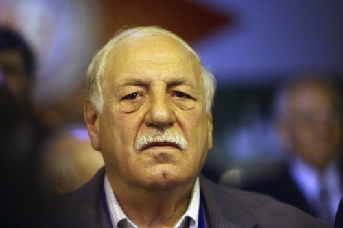 Ahmed Jibril, the Secretary General of the Popular Front for the Liberation of Palestine General Command attends the opening of the National Palestinian Meeting in Damascus, Syria January 23, 2008. [Salah Malkawi/ Getty Images]