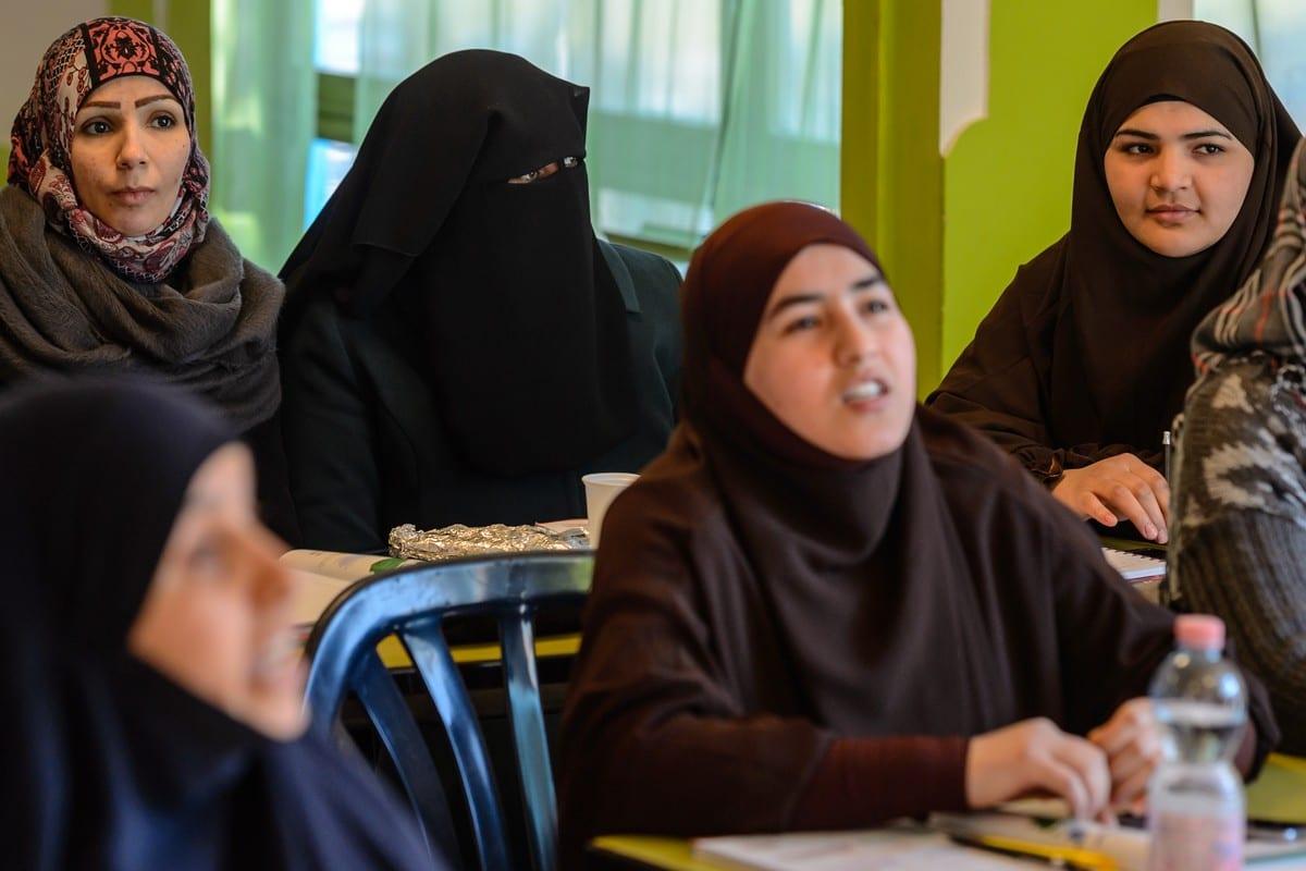 Muslim women in Germany on 14 February 2014 [Jens Schlueter/Getty Images]