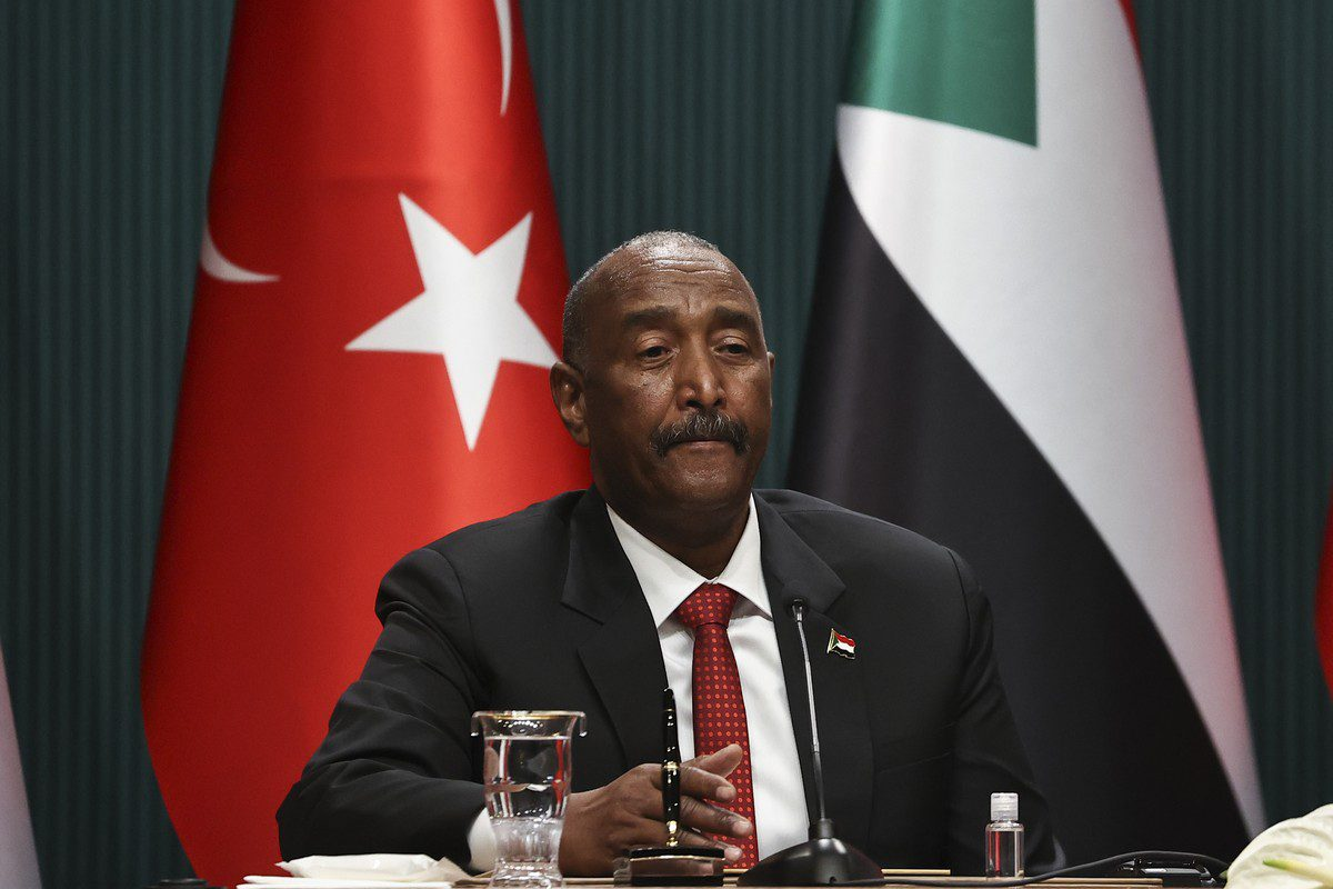 Chairman of Sudan's Sovereign Council Abdel Fattah al-Burhan on August 12, 2021 [Emin Sansar/Anadolu Agency]