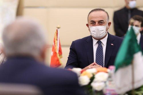 Turkish Foreign Minister Mevlut Cavusoglu in Algiers, Algeria on 14 August 2021 [Cem Özdel/Anadolu Agency]