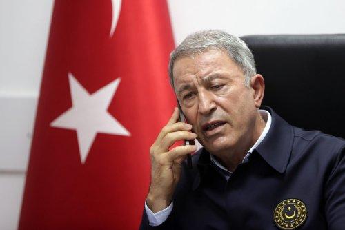 Turkish National Defense Minister Hulusi Akar in Van, Turkey on 14 August 2021 [Arif Akdoğan/Anadolu Agency]