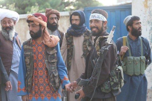 Taliban patrol in Herat city after took control in Herat, Afghanistan, on August 18, 2021 as Taliban take control of Afghanistan after 20 years [Mir Ahmad Firooz Mashoof/Anadolu Agency]