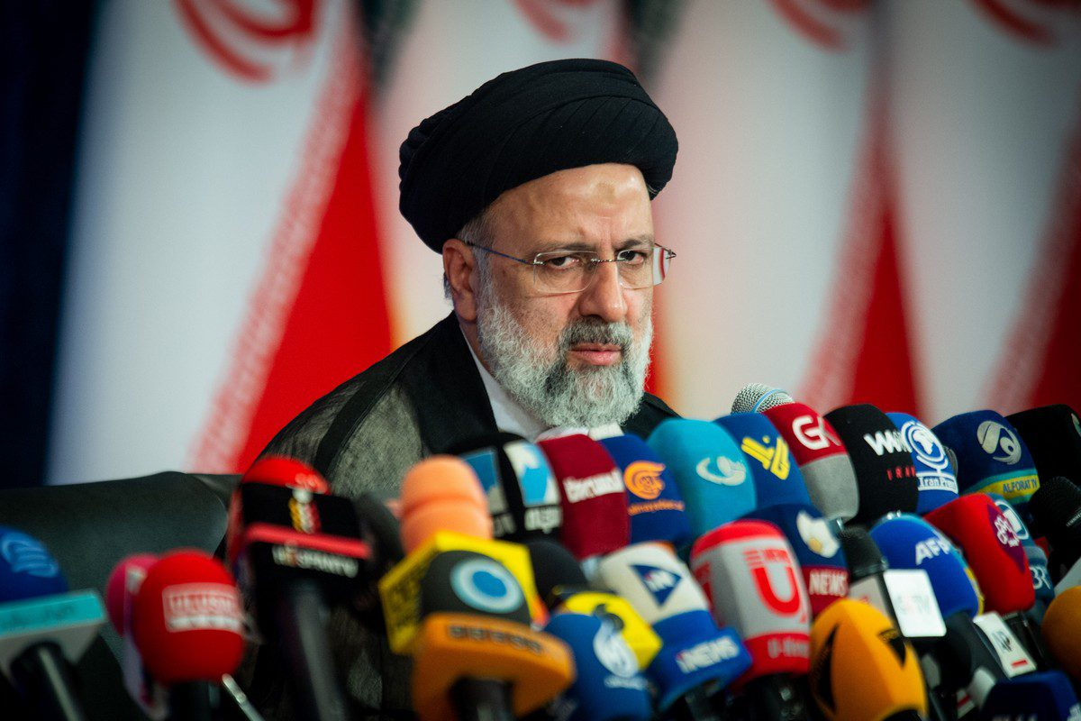 Ebrahim Raisi, Iran's president, at a news conference in Tehran, Iran on 21 June 2021 [Ali Mohammadi/Bloomberg via Getty Images]