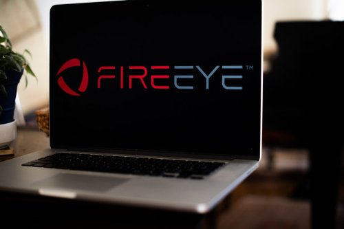 The FireEye Inc. logo on a laptop computer in New York, US. on 30 January 2021 [Tiffany Hagler-Geard/Bloomberg/Getty Images]