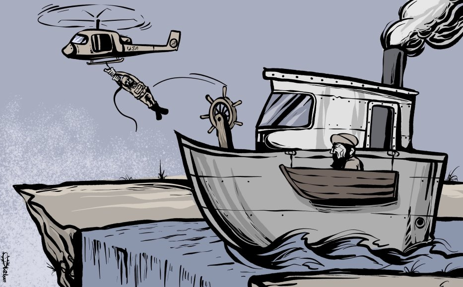 US withdraws from Afghanistan, where is this heading to...- Cartoon [Sabaaneh/MiddleEastMonitor]