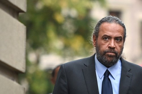Kuwaiti Sheikh Ahmad Al-Fahad Al-Sabah arrives at the Geneva's courthouse on 10 September 2021 [FABRICE COFFRINI/AFP/Getty Images]
