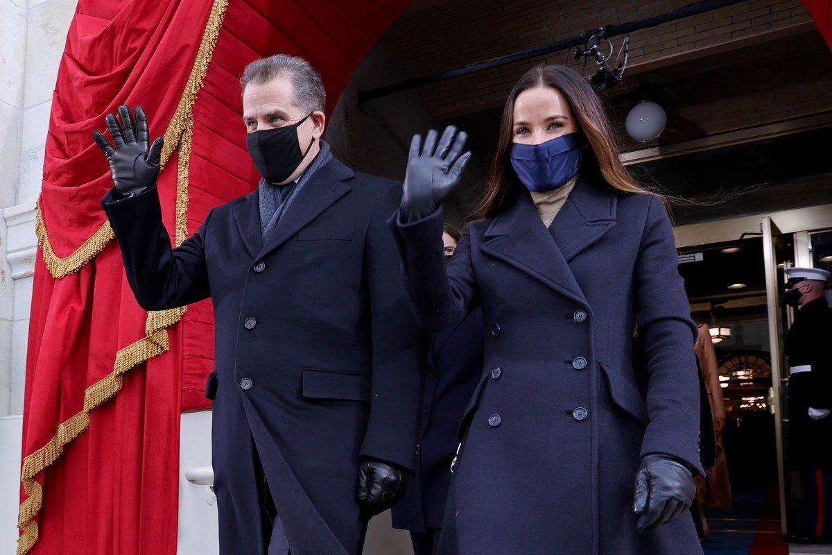 Hunter Biden and Ashley Biden arrive for the inauguration of President-elect Joe Biden in Washington, DC on 20 January 2021 [Jonathan Ernst-Pool/Getty Images]