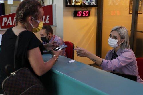 Passengers are seen at Izmir Terminal in Turkey on 6 September 2021 [Ömer Evren Atalay/Anadolu Agency]