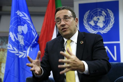 United Nations Development Programme administrator Achim Steiner in the Sudanese capital Khartoum during his visit to the country, on 29 January 2020. [ASHRAF SHAZLY/AFP via Getty Images]