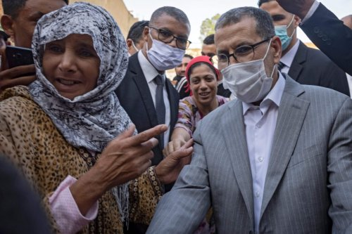 Saad-Eddine El Othmani , Morocco's Prime Minister and President of the Islamist Justice and Development Party (PJD)on August 27, 2021, ahead of the upcoming elections [FADEL SENNA/AFP via Getty Images]
