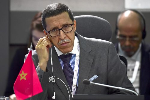 Moroccos Ambassador to the UN Omar Hilale, listens during the Non-Aligned Movement summit in Porlamar, Margarita Island, Venezuela, on 16 September 2016. [RONALDO SCHEMIDT/AFP via Getty Images]