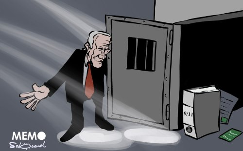 #US President Biden issues an executive order demanding the disclosure of 9/11 files and possible Saudi links #Cartoon by @Sabaaneh READ: https://www.middleeastmonitor.com/20210906-biden-executive-order-demands-disclosure-of-9-11-files-and-possible-saudi-links/