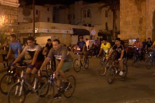 On bikes, Tunisians mark World Car Free Day