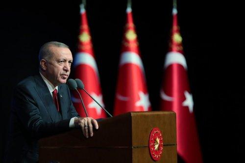 Turkish President Recep Tayyip Erdogan in Ankara, Turkey on 11 October 2021 [Mustafa Kamacı/Anadolu Agency]