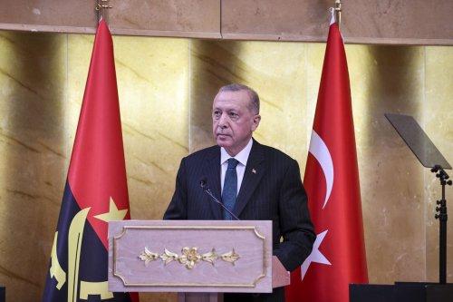 Turkish President Recep Tayyip Erdogan in Luanda, Angola on 18 October 2021 [Doğukan Keskinkılıç/Anadolu Agency]