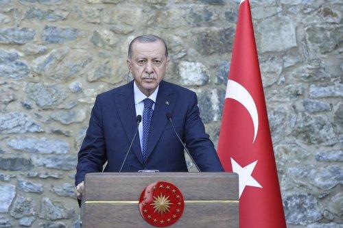 Turkish President Recep Tayyip Erdogan in Istanbul, Turkey on 16 October 2021 [Serhat Çağdaş/Anadolu Agency]