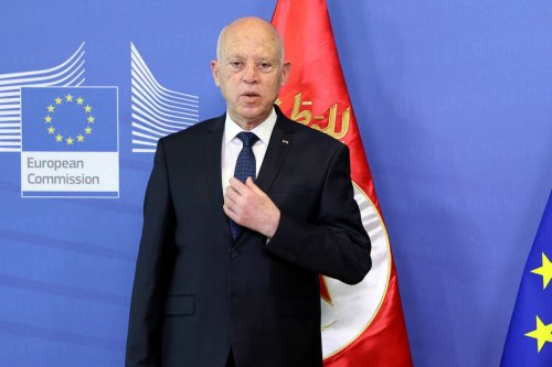 Kais Saied, Tunisia's president in Brussels, Belgium, 4 June 2021 [Dursun Aydemir/Anadolu/Bloomberg/Getty Images]