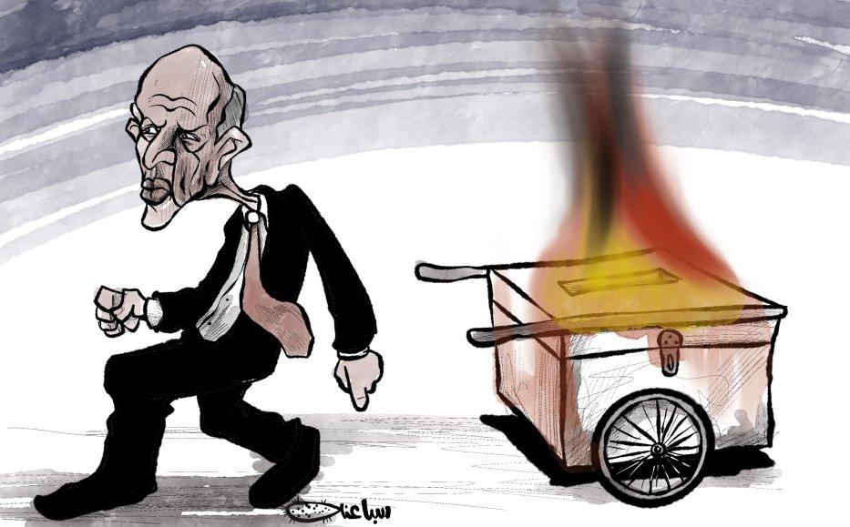 Is Tunsia's President Kais Saied ruining democracy?- Cartoon [Sabaaneh/Middle East Monitor]