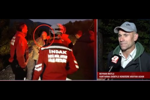 construction workconstruction worker Beyhan Mutlu, 50 joins search party for himself [Youtube screengrab/ATV]er Beyhan Mutlu, 50 joins search party for himself [Youtube screegrab/ATV]