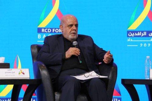 Iran's ambassador to Baghdad, Iraj Masjedi attends Rafidain Forum in Baghdad, Iraq on August 30, 2021 [Haydar Karaalp/Anadolu Agency via Getty Images]