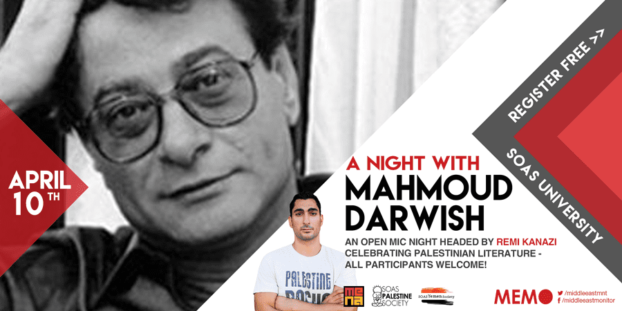 MEMO Event - A night with Mahmoud Darwish