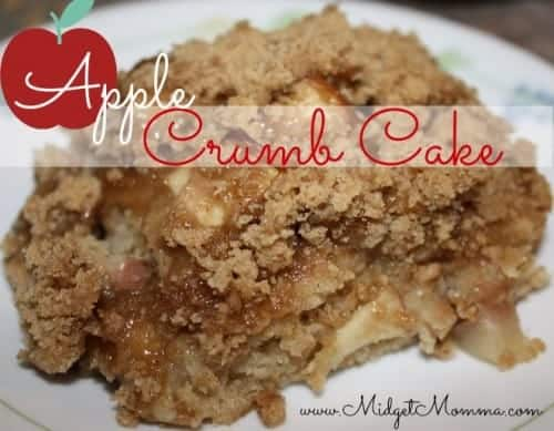This Apple Crumb cake is easy to make and tastes amazing! It has all the great spices that help bring out the flavor in the apples.