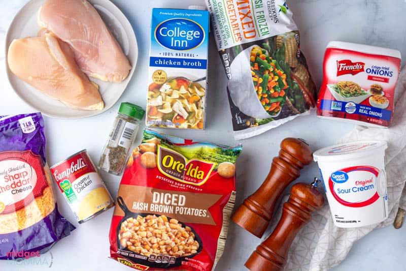 Chicken and Potato Casserole ingredients