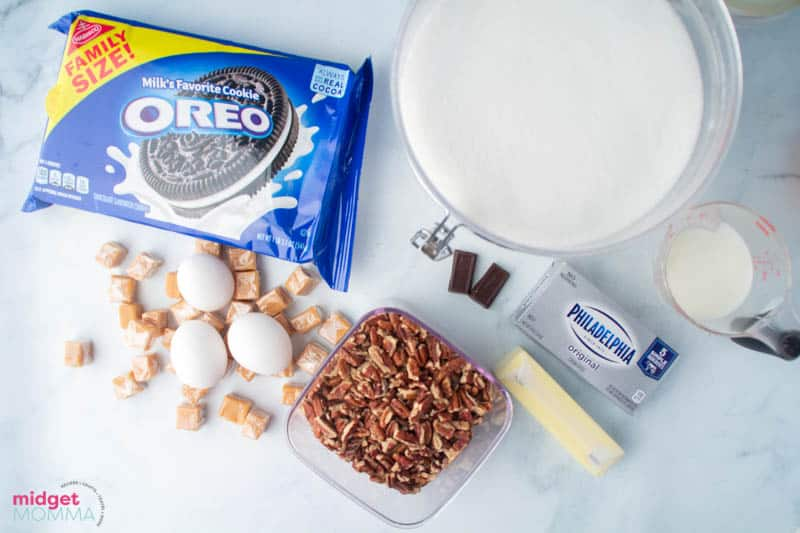Turtle Cheesecake Recipe ingredients