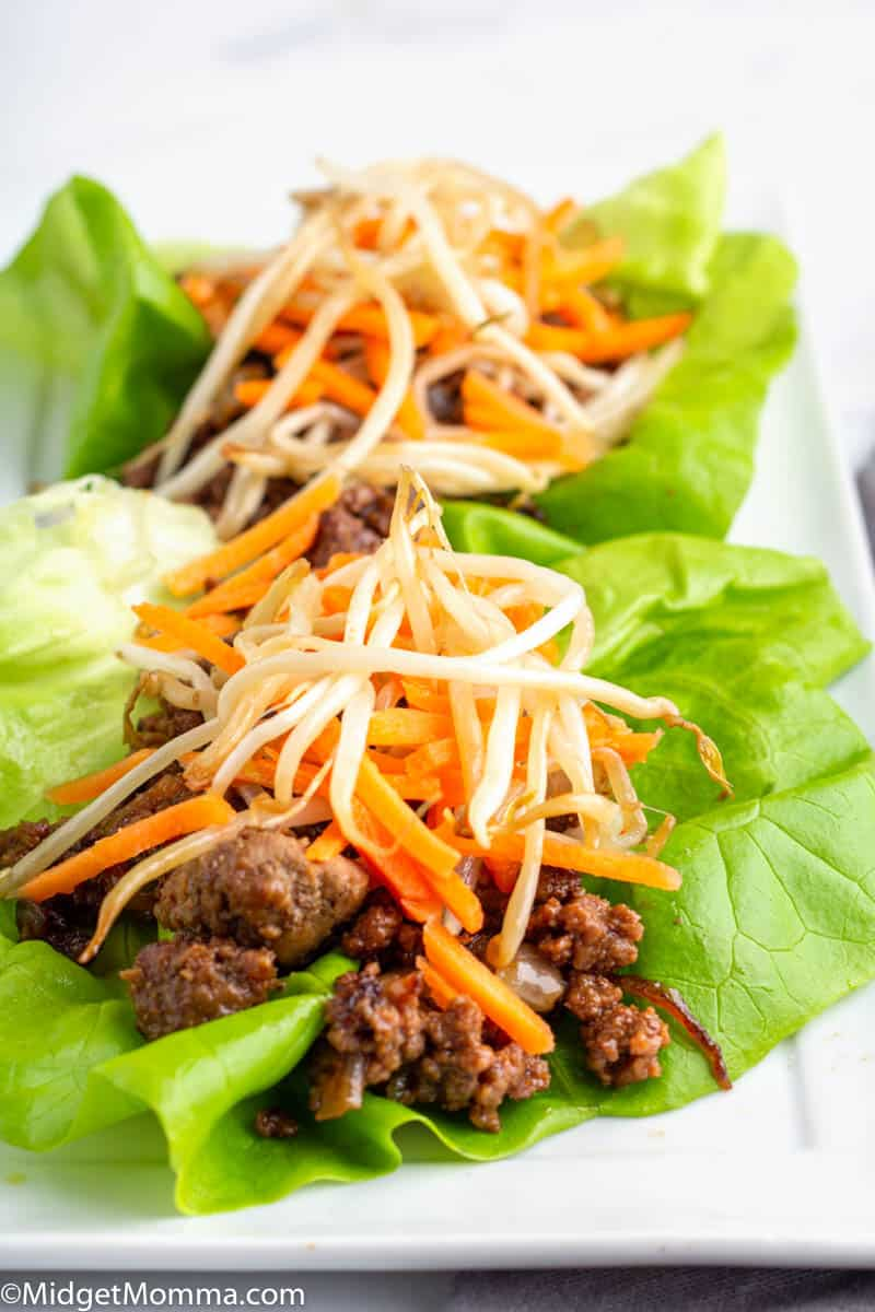 Beef Lettuce Wraps on a platter