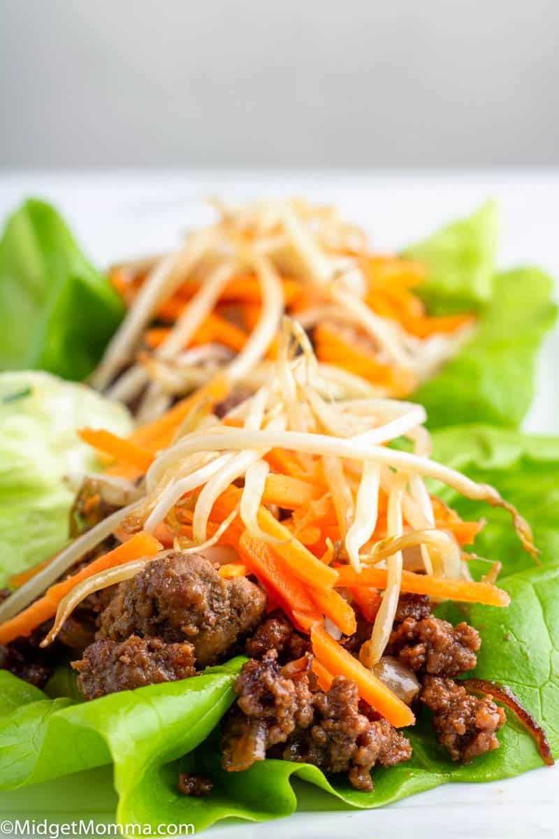 Crockpot Asian Beef Lettuce Wraps
