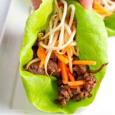 Asian Beef Lettuce Wraps