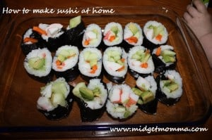 How to make Sushi at home is a great article to teach you how to make your very own sushi. This will save you so much money.