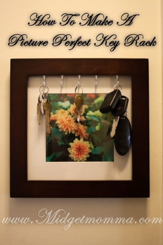 """Picture"" Perfect Key Rack Using a Framed Picture Tutorial"