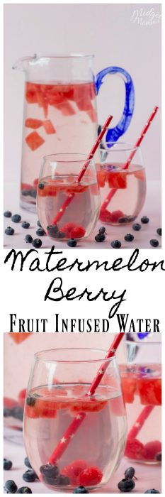 We love this Watermelon Berry Fruit Infused Waterand it is easy to make. This Watermelon water is perfect for a hot summer day when you are needing a refreshing drink.