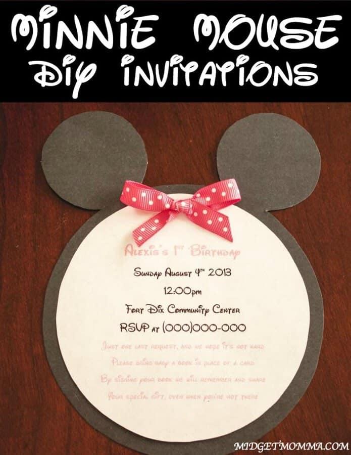 DIY Minnie Mouse Invitations