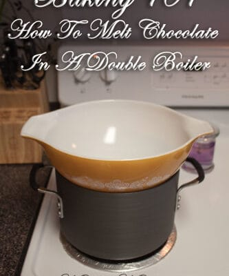 How To Melt Chocolate In A Double Boiler - you can buy a double boiler or make your own double boiler at home to melt chocolate and it is really easy to do