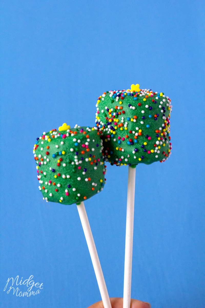 Marshmallow Christmas Tree Pops