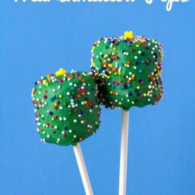Marshmallow Christmas Tree Pops