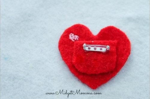 Heart Pocket Pin Valentine's Day Craft