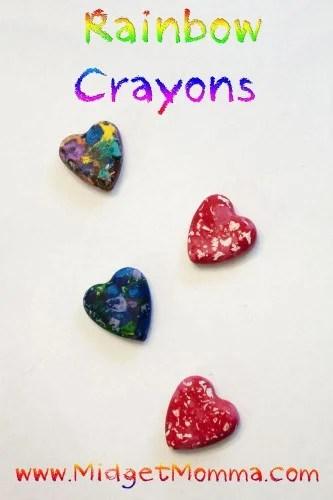 Do it Yourself Rainbow Crayons