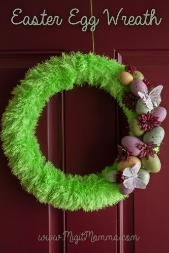 Do It Yourself Easter Egg Wreath