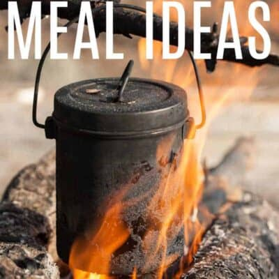 CAMPING MEAL IDEAS - Tourist kettle on a fire close up