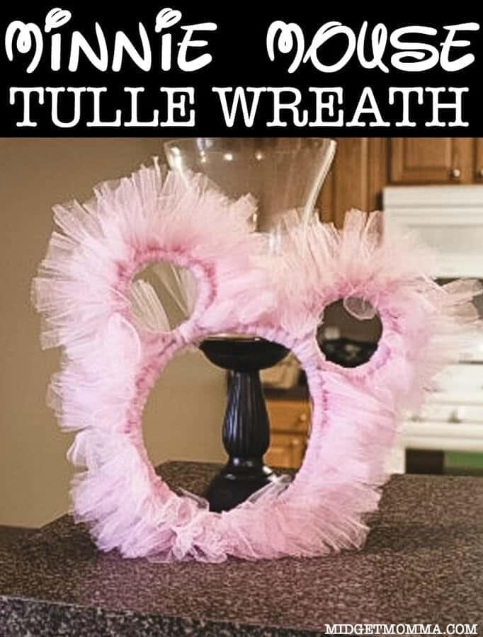 DIY Minnie Mouse Tulle Wreath