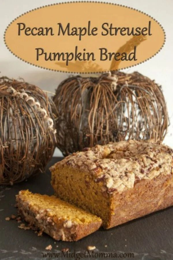 """This Pecan Maple Streusel Pumpkin Bread Is so amazing that you might never go back to the boring """"pumpkin bread"""". Perfect pumpkin bread recipe for the fall!"""